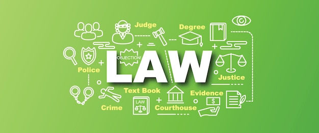 Law vector trendy banner
