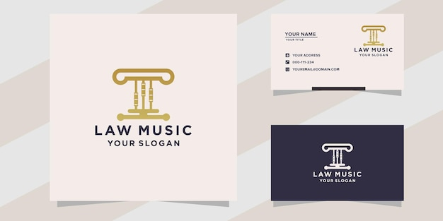 Law with music logo template