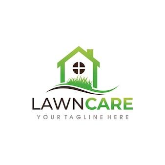 ローンケアのロゴ。芝生サービスのロゴデザイン