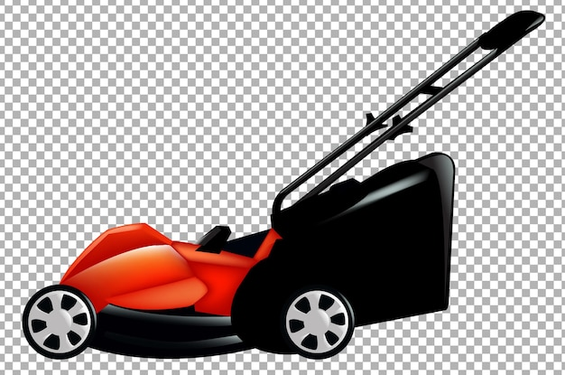 Lawnmower gradient mesh illustration
