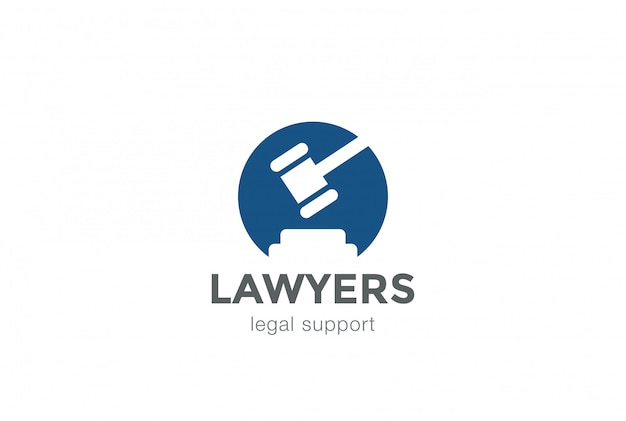 Lawyer attorney legal law firm logo icon