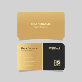 Lawyer business card with gold gradient