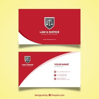 Шаблон карточки адвоката Premium векторы