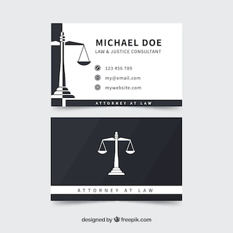 Lawyer card template