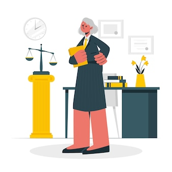 Lawyer concept illustration