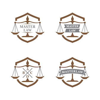 Lawyer and justice logo, law office logo, attorney brand