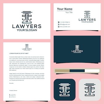 Lawyer logo with business card