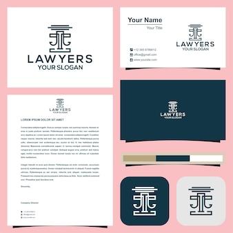 Логотип адвоката с визитной карточкой