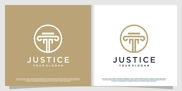Lawyer logo with creative element style premium vector part 3
