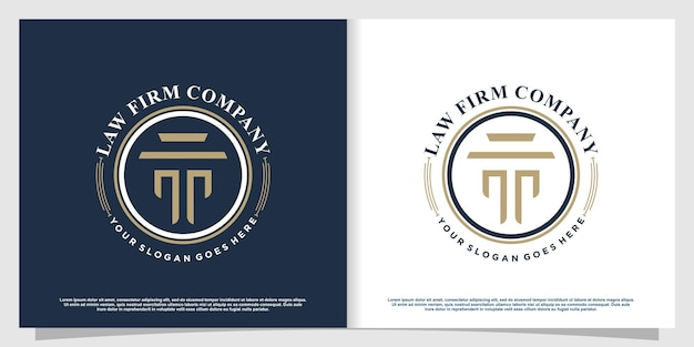 Lawyer logo with creative element style premium vector part 5
