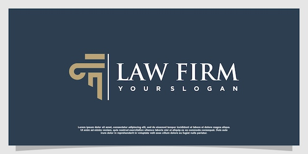 Lawyer logo with creative element style premium vector part 6