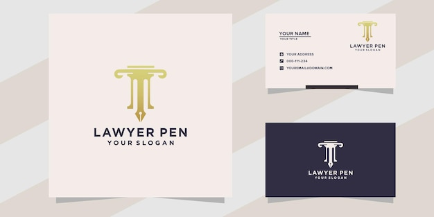 Lawyer with pen logo template