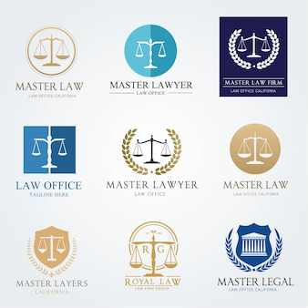 Логотип юридической фирмы логотип векторного дизайна. набор логотипов lawyer