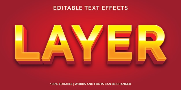 Layer editable text effect