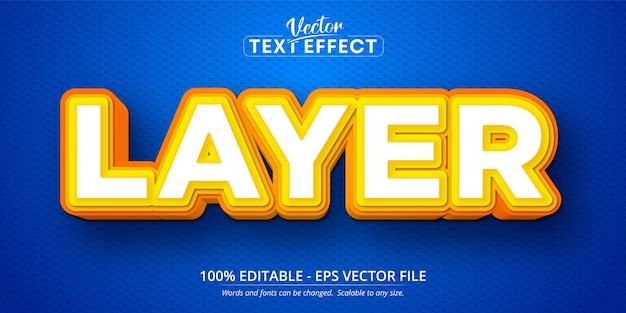 Layer text, cartoon style editable text effect