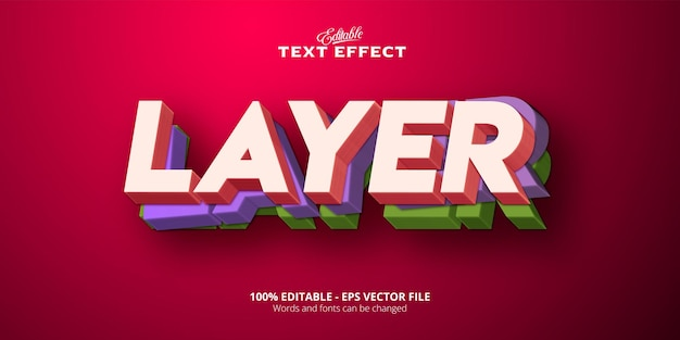 Layer  text, neon style editable text effect