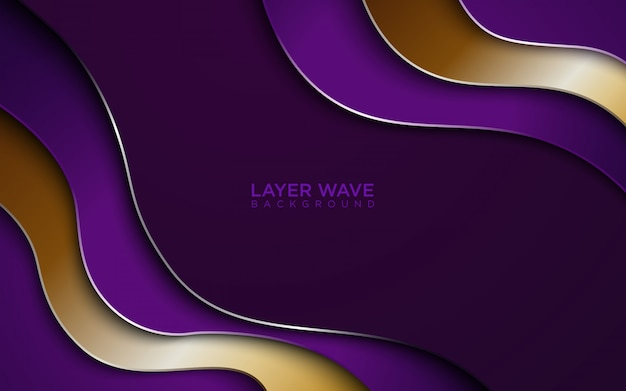 Layer wave abstract background