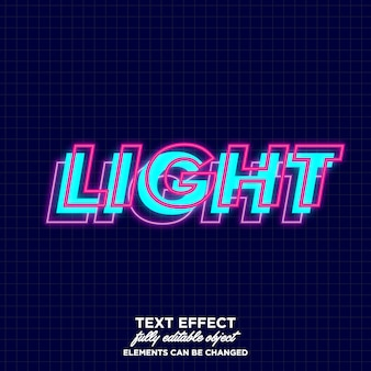 Layered font with glowing effect