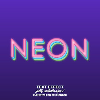 Layered neon text style
