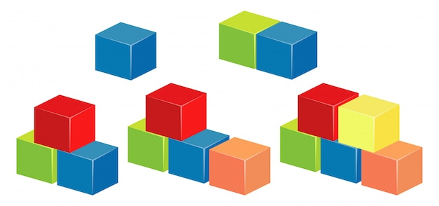 Layers of blocks in different colors