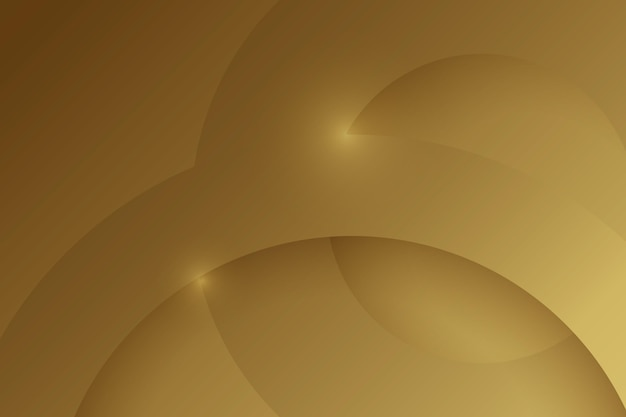 Layers of circular gold luxury shapes background