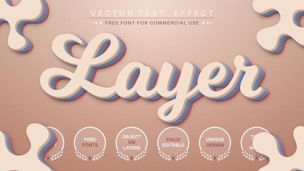 レイヤーはテキスト効果の編集可能なフォントスタイルを編集します