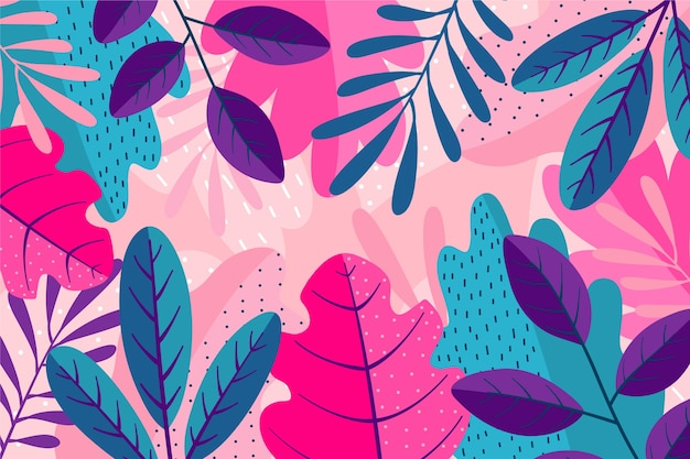 Слои разноцветных листьев фона