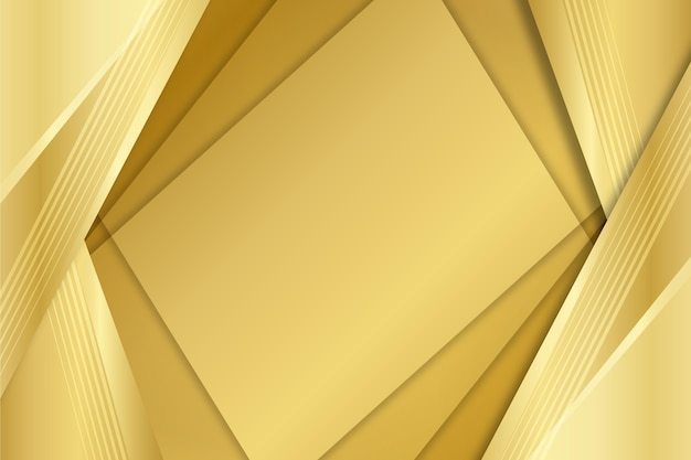 Layers of squares gold luxury shapes background