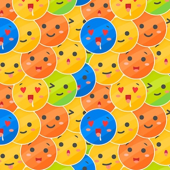 Layes of emoticons pattern template