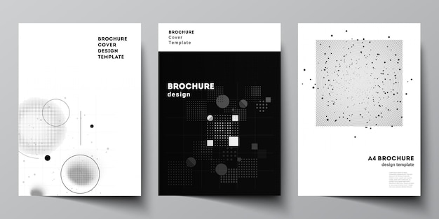 Layout of a4 cover mockups templates for brochure