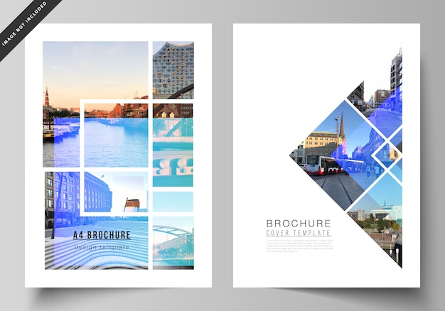The layout of a4 format modern cover design templates for brochure, magazine, flyer, booklet, annual report.
