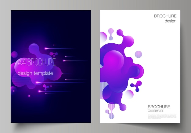 Layout of a4 format modern cover design templates.