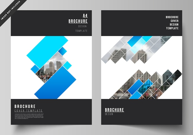 Layout of a4 format modern cover mockups design templates