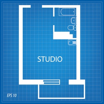 Layout of the apartment. studio.