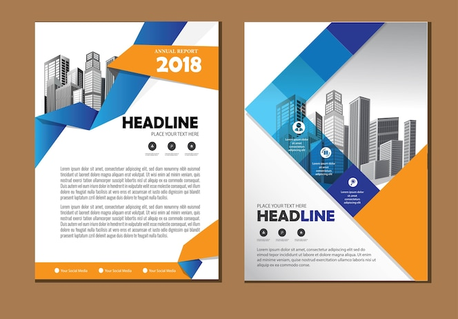 Layout cover brochure flyer business template for background annual report company