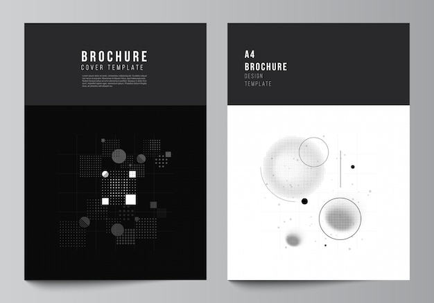 Layout of a cover mockups templates for brochure