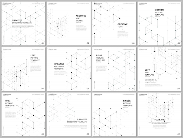 Layout of covers templates for flyer leaflet
