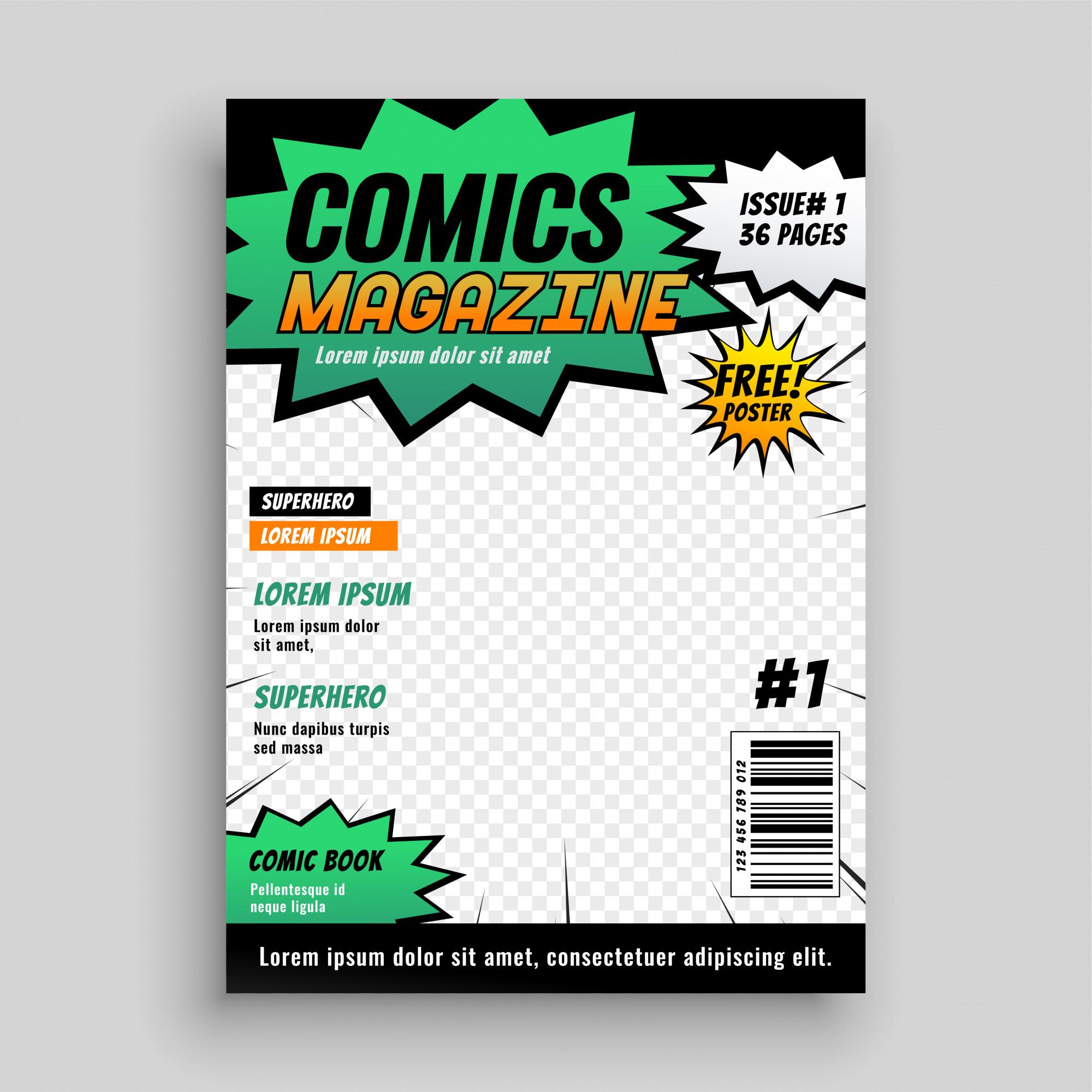 Layout design of comic book cover