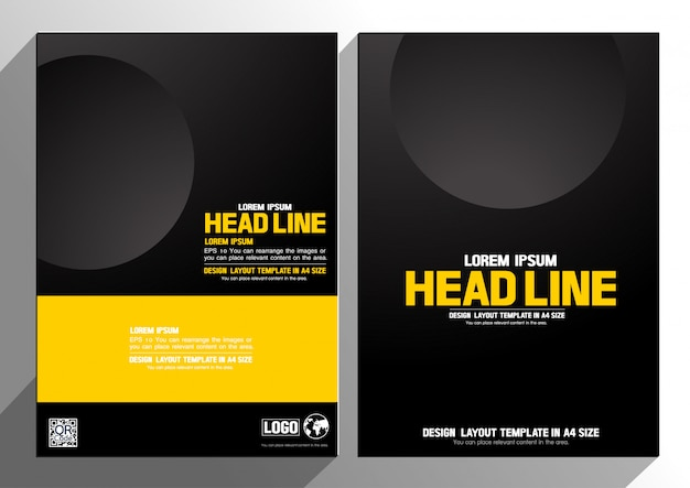 Layout design template background