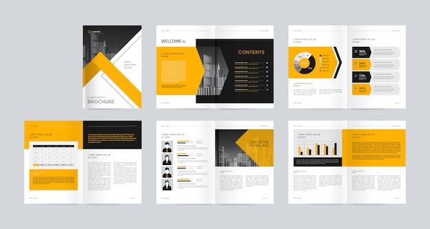 Layout design  template with page cover