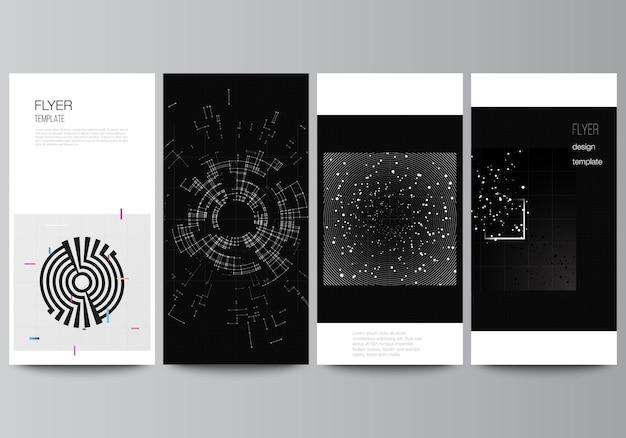Layout of flyer banner design templates for website design vertical flyer design