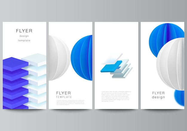 Layout of flyer design templates.