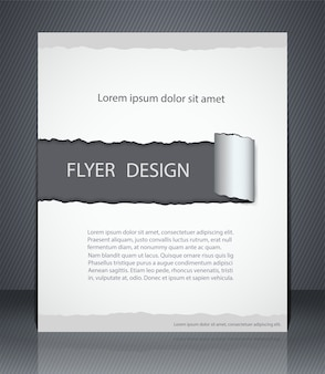 Макет листовки, обложка журнала или корпоративный дизайн шаблона рекламы, серого цвета