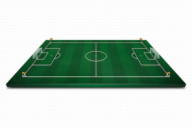 Layout football field with marking.