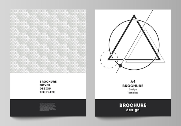 Layout of a format modern cover mockups design templates