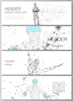 Layout of headers, banner design templates.