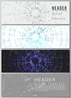 The layout of headers, banner templates
