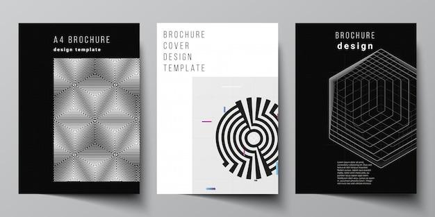 브로셔 표지 디자인 템플릿 레이아웃