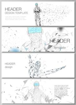 ヘッダー、バナーデザインテンプレートのレイアウト。