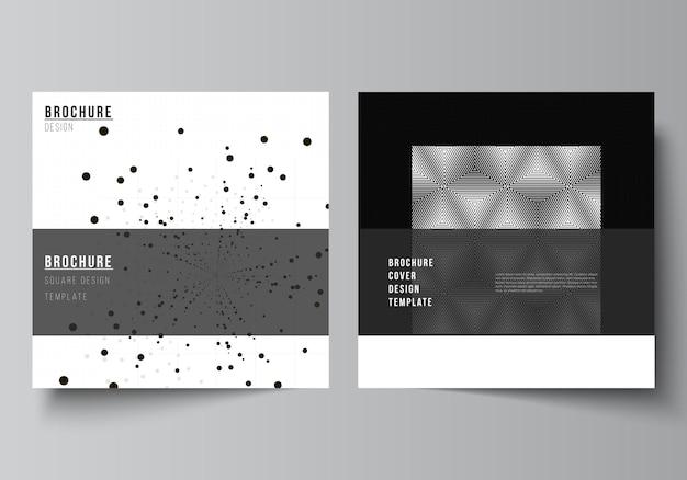 2つの正方形のレイアウトはパンフレットのデザインテンプレートをカバーします